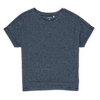 material Girl short-sleeved t-shirts Name it NKFKYRRA Marine
