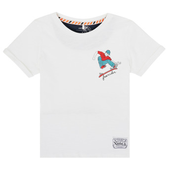 material Boy short-sleeved t-shirts Name it NKMKBOWLING White