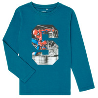 material Boy Long sleeved shirts Name it NMMSPIDERMAN Blue