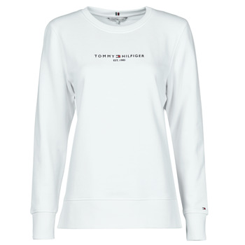 material Women sweaters Tommy Hilfiger TH ESS HILFIGER C-NK SWEATSHIRT White