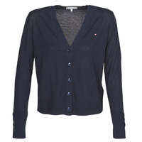 material Women Jackets / Cardigans Tommy Hilfiger LOUA CARDI V-NK SWT LS Marine