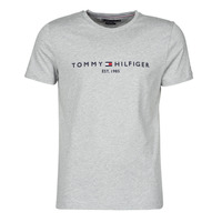 material Men short-sleeved t-shirts Tommy Hilfiger TOMMY LOGO TEE Grey