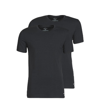 material Men short-sleeved t-shirts Nike EVERYDAY COTTON STRETCH Black