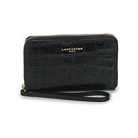 Bags Women Wallets LANCASTER EXOTIC CROCO Black