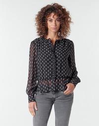 material Women Blouses Pepe jeans NORA Black