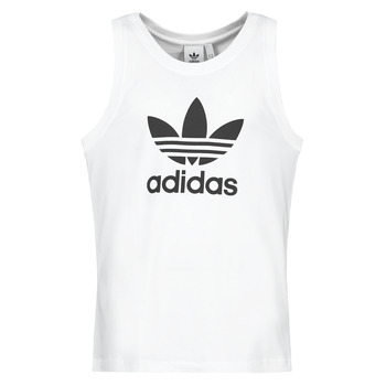 material Men Tops / Sleeveless T-shirts adidas Originals TREFOIL TANK White