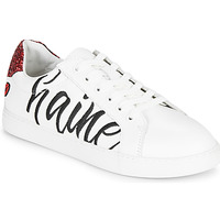 Shoes Women Low top trainers Bons baisers de Paname SIMONE AMOUR/HAINE White