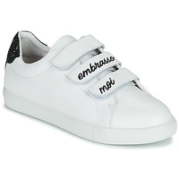 Shoes Women Low top trainers Bons baisers de Paname EDITH EMBRASSE MOI White