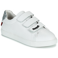 Shoes Women Low top trainers Bons baisers de Paname EDITH EYES White