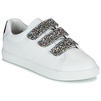 Shoes Women Low top trainers Bons baisers de Paname EDITH GLITTER TONGUE White
