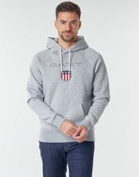 material Men sweaters Gant GANT SHIEL HOODIE Grey