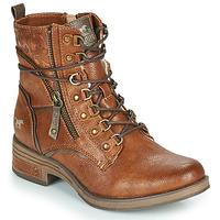 Shoes Women Mid boots Mustang 1293601 Cognac