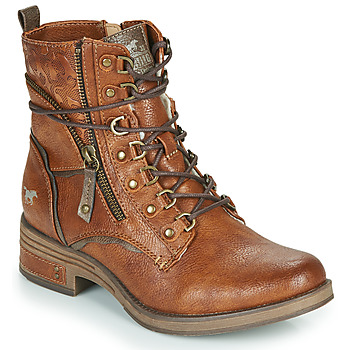 Shoes Women Mid boots Mustang 1293601 Cognac