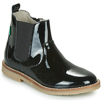 Shoes Girl Mid boots Kickers TYPIK Black / Patent