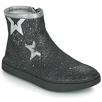 Shoes Girl Mid boots Kickers LYBOOSTAR Black / Silver