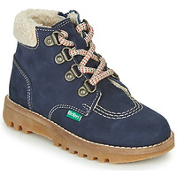 Shoes Boy Mid boots Kickers NEWHOOKY Marine / Beige