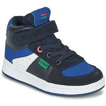 Shoes Boy High top trainers Kickers BILBON MID Marine