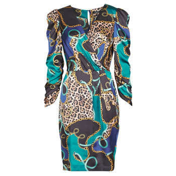 material Women Short Dresses Marciano FOULARD SHORT DRESS Multicolour