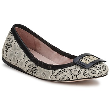 Shoes Women Ballerinas Fornarina LYZA  BLACK / Fabric / Wos / Shoe