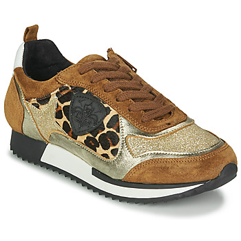 Shoes Women Low top trainers Philippe Morvan ROXA V2 SILKY CAMEL Brown / Gold / Leopard