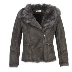 material Women Leather jackets / Imitation le Naf Naf BYBUE Brown