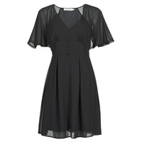 material Women Short Dresses Naf Naf L-CROCUS R1 Black