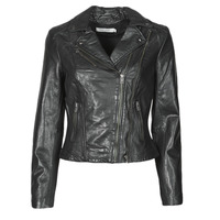 material Women Leather jackets / Imitation le Naf Naf CAMILLA Black