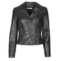 material Women Leather jackets / Imitation le Naf Naf CAMILLA Black