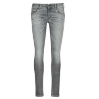 material Women slim jeans Diesel SLANDY LOW Grey