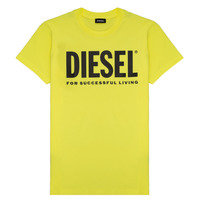 material Children short-sleeved t-shirts Diesel TJUSTLOGO Yellow
