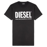 material Children short-sleeved t-shirts Diesel TJUSTLOGO Black