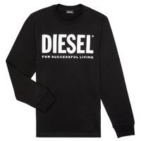 material Boy Long sleeved shirts Diesel TJUSTLOGO ML Black