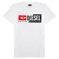 material Children short-sleeved t-shirts Diesel TDIEGOCUTY White