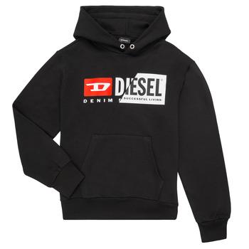 material Children sweaters Diesel SGIRKHOODCUTY Black