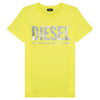 material Girl short-sleeved t-shirts Diesel TSILYWX Yellow