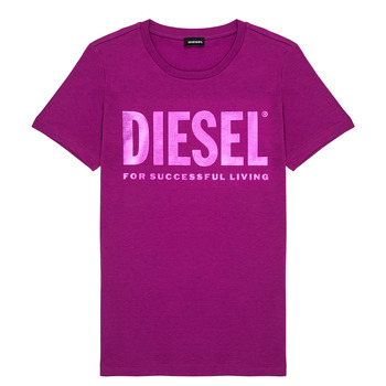 material Girl short-sleeved t-shirts Diesel TSILYWX Pink
