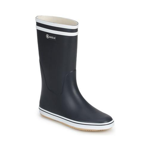 Shoes Women Wellington boots Aigle MALOUINE Marine / White