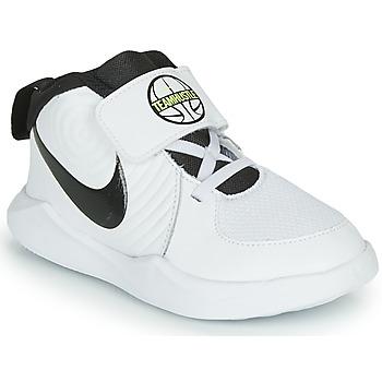 Shoes Boy Basketball shoes Nike TEAM HUSTLE D 9 TD White / Black