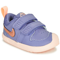 Shoes Girl Low top trainers Nike PICO 5 TD Violet / Pink