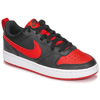 Shoes Children Low top trainers Nike COURT BOROUGH LOW 2 GS Black / Red