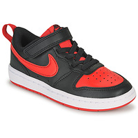 Shoes Children Low top trainers Nike COURT BOROUGH LOW 2 PS Black / Red
