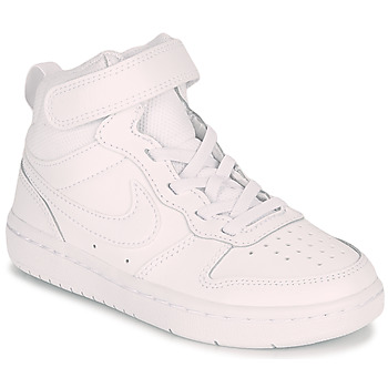 Shoes Children High top trainers Nike COURT BOROUGH MID 2 PS White