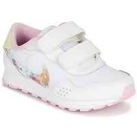 Shoes Girl Low top trainers Nike MD VALIANT PS White / Pink