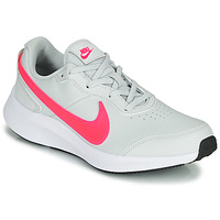 Shoes Girl Low top trainers Nike VARSITY LEATHER GS White / Pink