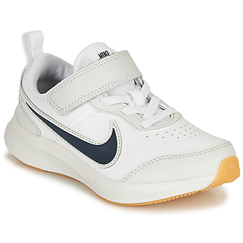 Shoes Boy Low top trainers Nike VARSITY LEATHER PS White / Blue