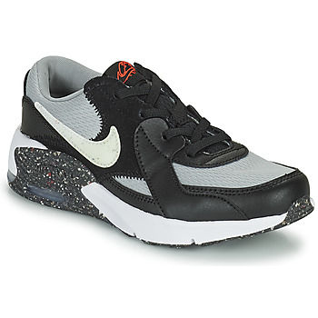 Shoes Boy Low top trainers Nike AIR MAX EXCEE MTF PS Grey / Black