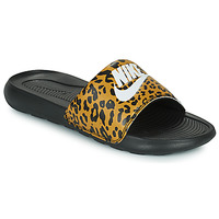 Shoes Women Sliders Nike Nike Victori Print (Name Not Legal) Brown / Black