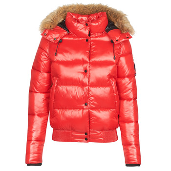 material Women Duffel coats Superdry HIGH SHINE TOYA BOMBER Red
