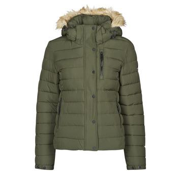 material Women Duffel coats Superdry CLASSIC FAUX FUR FUJI JACKET Dark / Moss