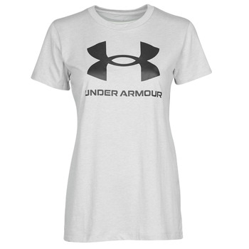 material Women short-sleeved t-shirts Under Armour GRAPHIC SSC Grey / Clear